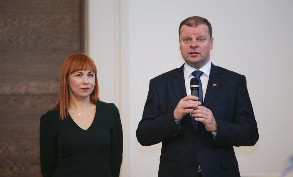 Jurgita Petrauskienė ir Saulius Skvernelis (nuotr. Fotodiena.lt)