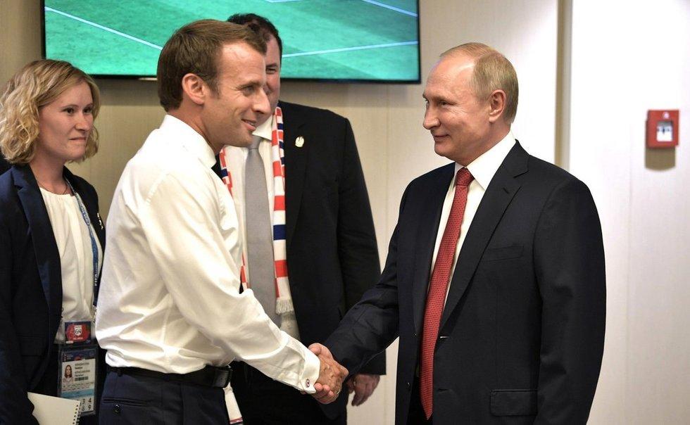 Prancūzijos prezidentas: V. Putinas svajoja apie Europos Sąjungos griūtį