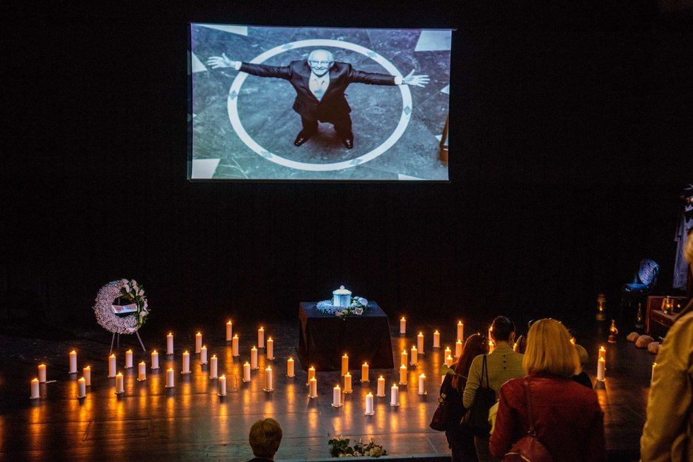 Atsisveikinimas su Gediminu Girdvainiu Vilniaus mažajame teatre