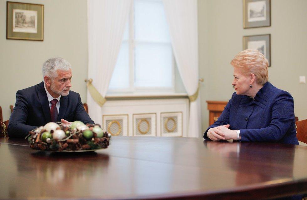 Dalia Grybauskaitė ir Bronius Markauskas (nuotr. Fotodiena.lt)