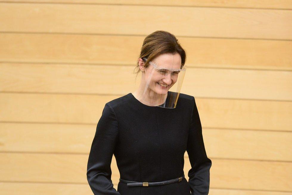 Seimo pirmininke išrinkta Viktorija Čmilytė-Nielsen (nuotr. Fotodiena/Justinas Auškelis)