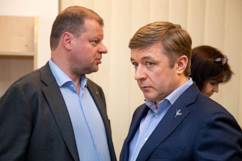 Skvernelis ir Karbauskis (nuotr. Fotodiena.lt)