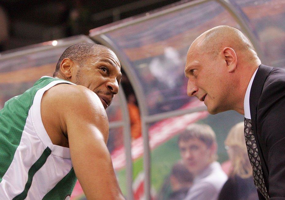Marcusas Brownas ir Ramūnas Butautas (nuotr. Fotodiena.lt)