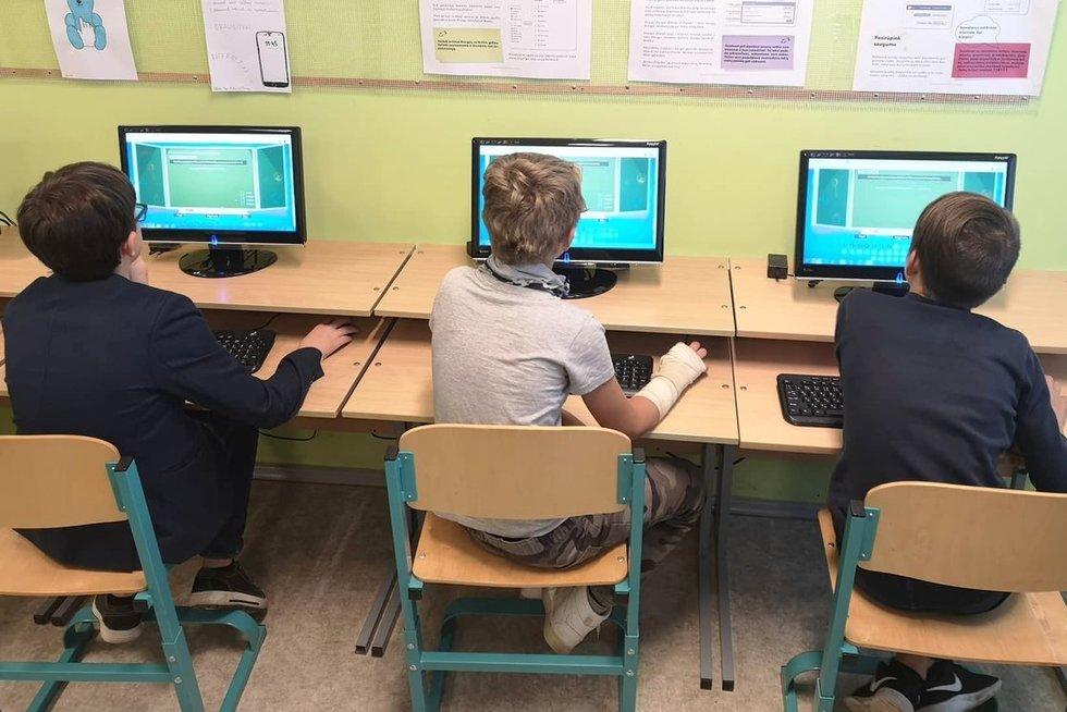 Senųjų Trakų Kęstučio pagrindinėje mokykloje visi vaikai ugdomi kartu. Senųjų Trakų Kęstučio pagrindinės mokyklos archyvo nuotr.