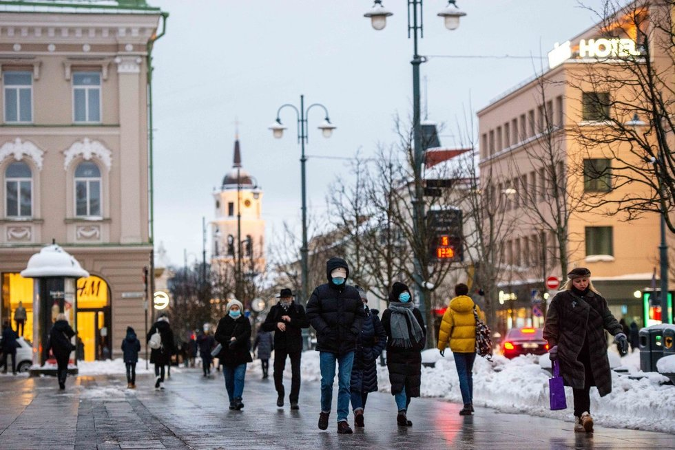 Žiema sostinėje  (nuotr. Fotodiena.lt/J. Auškelis)