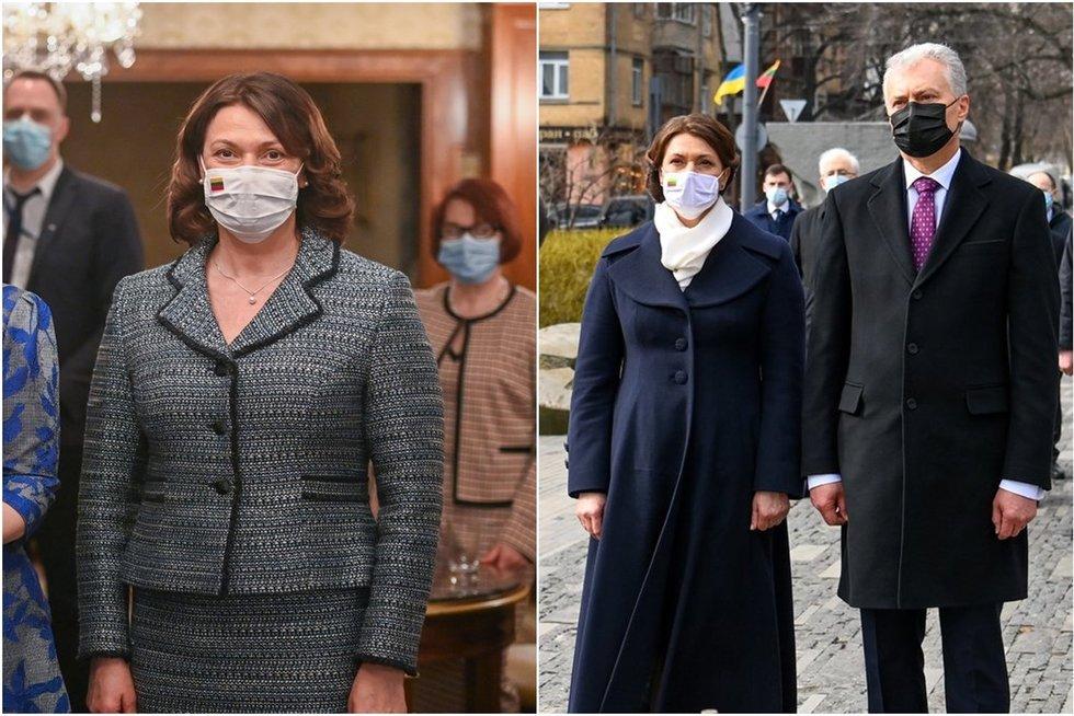 Nausėdienė Ukrainoje pasipuošė išskirtine detale: pastebėjo tik akyliausi