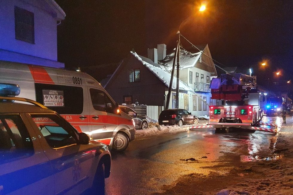 Gaisras Vilniuje, Polocko gatvėje (nuotr. Broniaus Jablonsko)