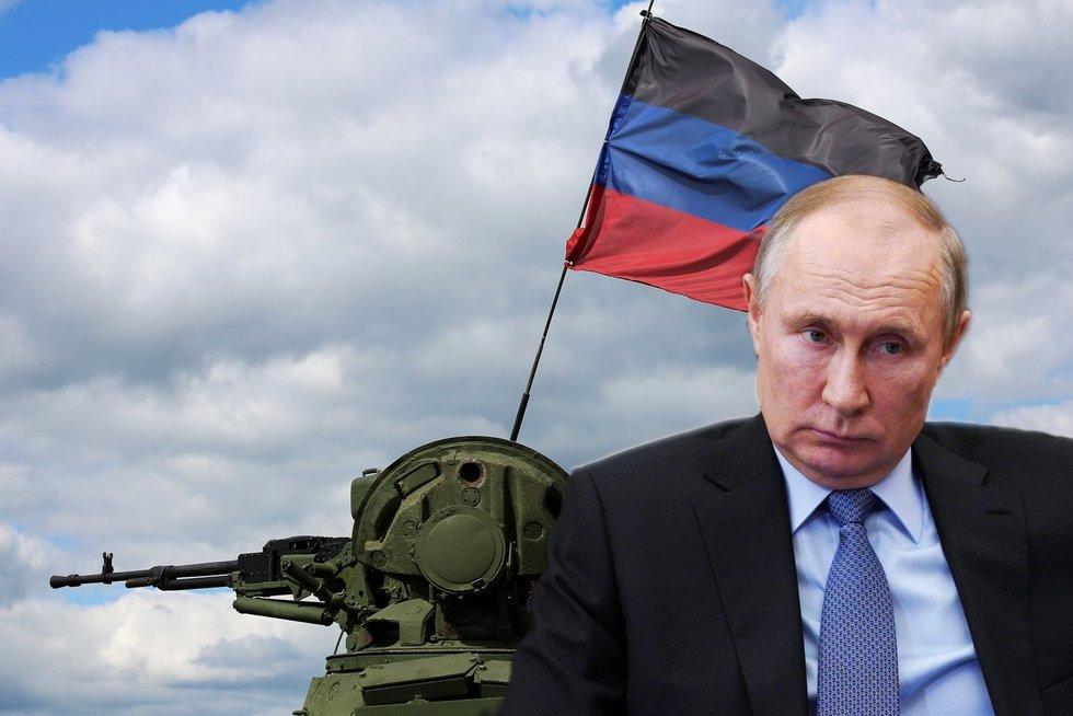 Karas Ukrainoje: Kremlius grasina karinių veiksmų atnaujinimu (nuotr. SCANPIX) tv3.lt fotomontažas