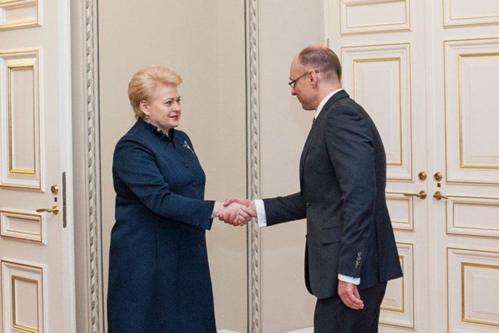 Dalia Grybauskaitė susitiko su Ministro Pirmininko teikiamu kandidatu (nuotr. Fotodiena.lt/Pauliaus Peleckio)
