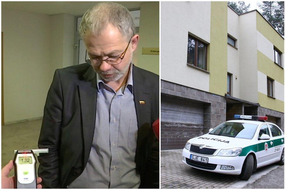 Pareigūnai patikrino neblaivaus iš Seimo pasprukusio parlamentaro L. Balsio namus (TV3 koliažas)