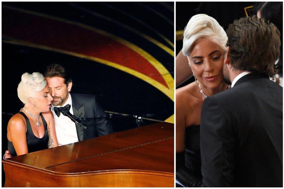 Lady Gaga ir Bradley Cooper (tv3.lt fotomontažas)