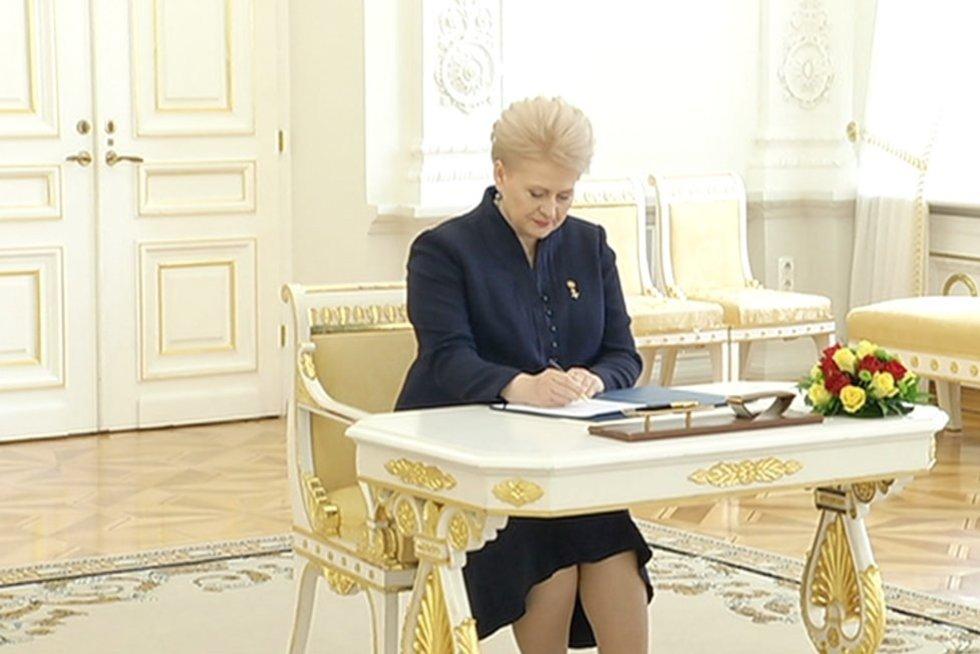 Dalia Grybauskaitė (nuotr. stopkadras)