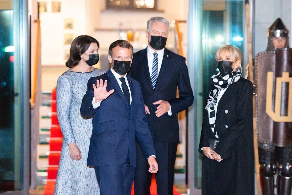 Emmanuelis Macronas atvyko į Lietuvą (nuotr. Fotodiena/Justino Auškelio)
