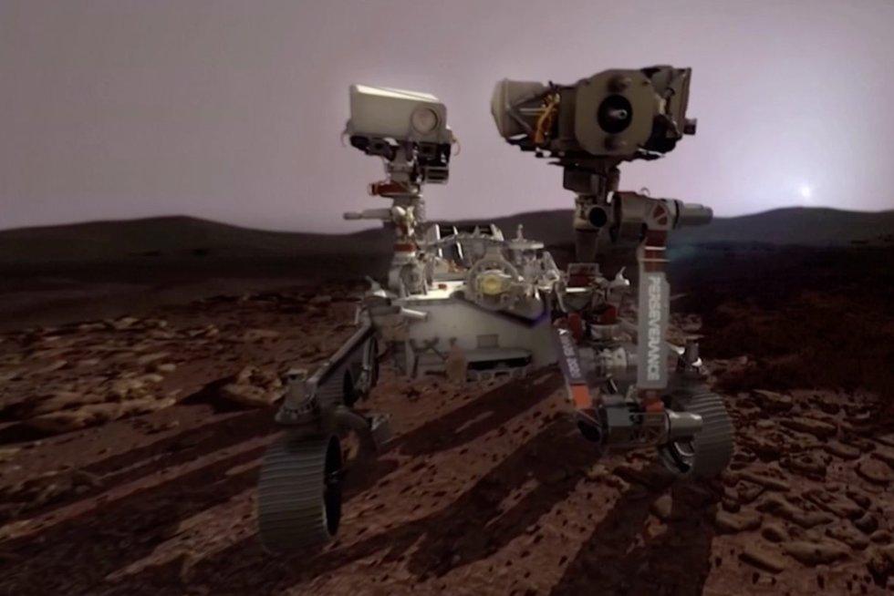 Marse pavyko išgauti pirmąjį deguonį (nuotr. stop kadras)