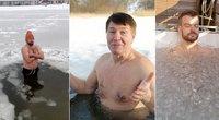 Karštai su tv3.lt. Gydytojas įspėja – Lietuvos žvaigždžių pamėgtos žiemos maudynės kelia pavojų sveikatai (nuotr. stop kadras)