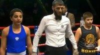 Bokso turnyre – komiška Kadyrovo sūnaus pergalė: priešininkui liko tik skėsčioti rankomis (nuotr. Gamintojo)