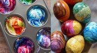 Kiaušiniai dažyti skutimosi putomis