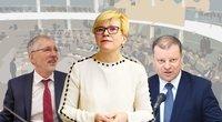 Gediminas Kirkilas. INgrida Šimonytė. Saulius Skvernelis (tv3.lt fotomontažas)