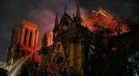 Kaip atrodo Paryžiaus Dievo Motinos katedra po gaisro