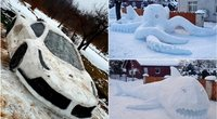 Lietuviai stato įspūdingas sniego skulptūras