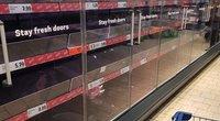 Parduotuvių lentynos Airijoje (nuotr. skaitytojo)