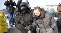 Rusijoje prasidėjus protestams sulaikyta šimtai Navalno šalininkų (nuotr. SCANPIX)