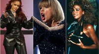 Rihanna, Taylor Swift, Whitney Houston (tv3.lt fotomontažas)