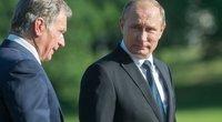 Suomijos prezidentas Sauli Niinisto ir Vladimiras Putinas (nuotr. SCANPIX)