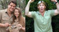 Bindi Irwin su vyru ir Steve Irwin (tv3.lt fotomontažas)