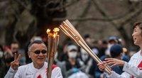 Atšaukta olimpinio deglo kelionė Osakos keliais. (nuotr. SCANPIX)
