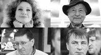 Jūratė Rekevičiūtė,  Jonas Mekas, Vytautas Šerėnas, Almantas Vaišnys