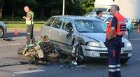 Vilniuje per avariją sunkiai nukentėjo motociklininkas (nuotr. Broniaus Jablonsko)