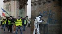 Paryžiuje vandalai sunkiojo nacionalinį pasididžiavimą – Triumfo arką (nuotr. SCANPIX) tv3.lt fotomontažas