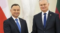 Lenkijos prezidentas Andrzejus Duda ir Lietuvos prezidentas Gitanas Nausėda (nuotr. SCANPIX)