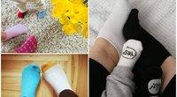 Feisbuke – šimtai ryškiaspalvių kojinių nuotraukų