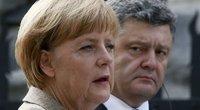 A. Merkel ir P. Porošenko (nuotr. SCANPIX)