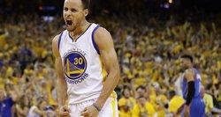 """Eilinis Stepheno Curry šou išvedė """"Golden State Warriors"""" ekipą į NBA finalą"""