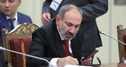 Armėnijos premjeras pranešė balandį atsistatydinsiantis