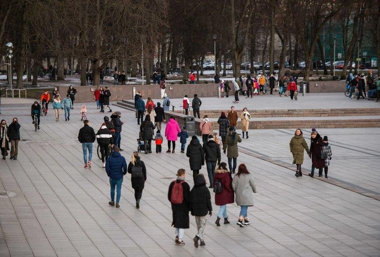 Pavasaris sostinėje (nuotr. Fotodiena/Justino Auškelio)