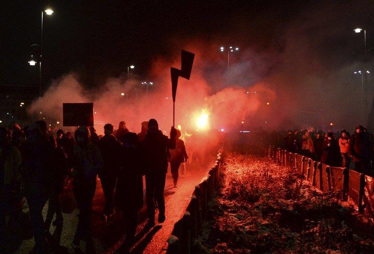 Protestai Lenkijoje (nuotr. SCANPIX)