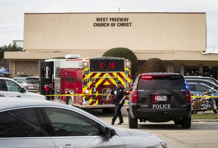 Šaudynės Teksase (nuotr. Scanpix)
