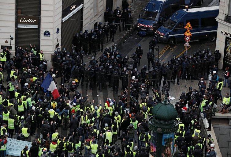 Protestai Paryžiuje (nuotr. SCANPIX)
