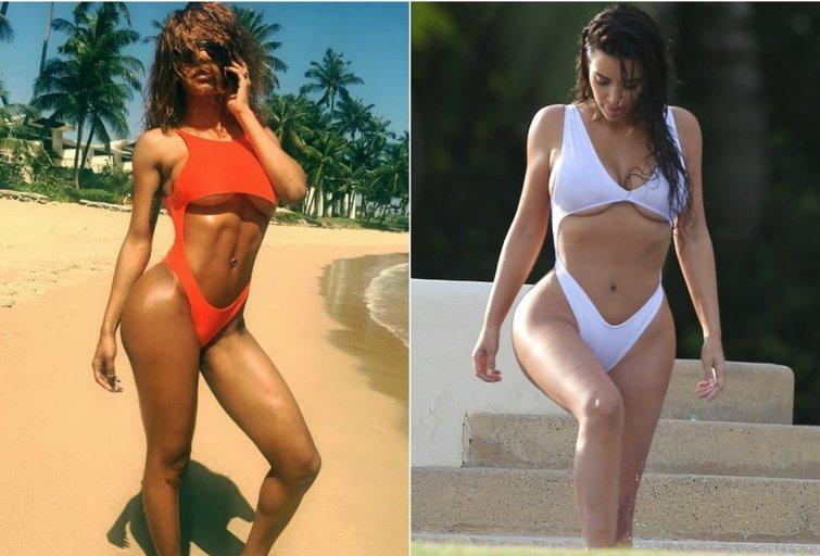 Teyana Taylor ir Kim Kardashian (nuotr. Instagram/Vida Press)