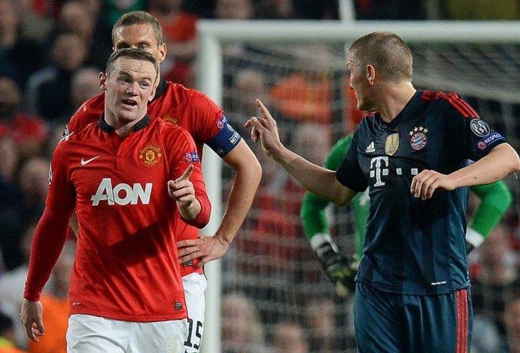 B. Schweinsteigeris ir W. Rooney (nuotr. SCANPIX)