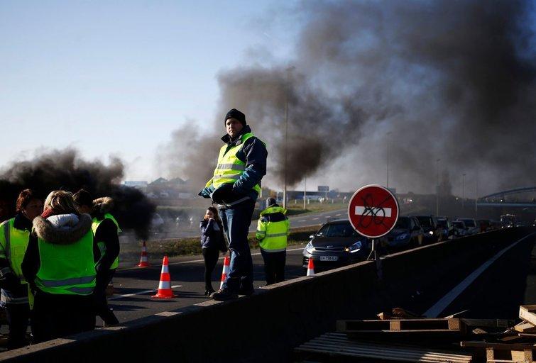 Protestų Prancūzijoje akimirka  (nuotr. SCANPIX)