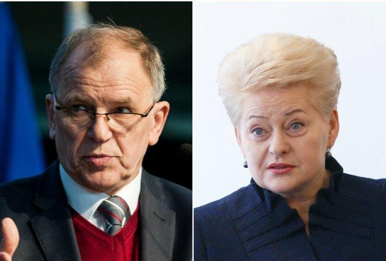 V. P. Andriukaitis ir D. Grybauskaitė (tv3.lt fotomontažas)