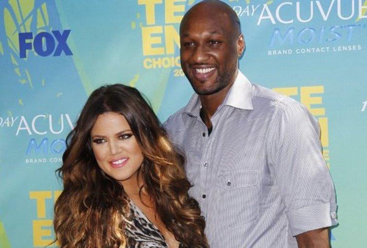 Lamar Odom ir Khloe Kardashian (nuotr. SCANPIX)