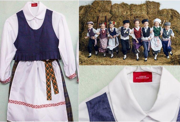 Dizainerio J. Statkevičiaus kurti tautiniai kostiumai Panevėžio darželius pasiekė paslapčia (nuotr. JP)