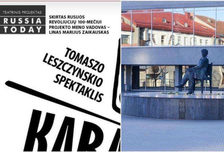 """Spektaklis """"Karas dar neprasidėjo"""" Panevėžio Juozo Miltinio dramos teatre (nuotr. Organizatorių ir fotodiena.lt)"""