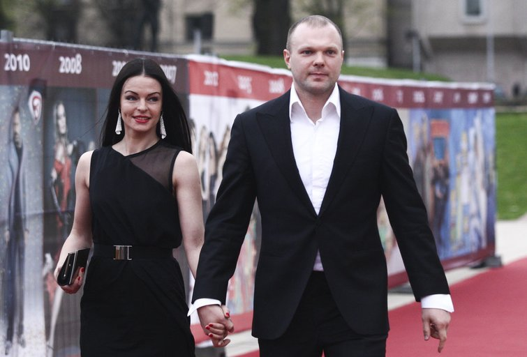 Kristupas Krivickas su žmona Jurgita (nuotr. Fotodiena.lt)